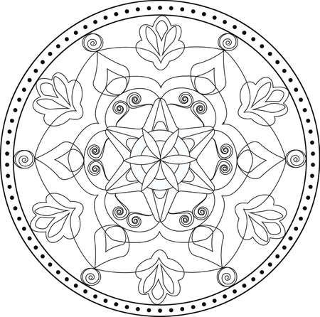 textil: Artistic and creative mandala for coloring books and textil decoration
