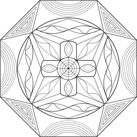Ejemplo Creativo Con Patrones Geométricos Para Libros Para Colorear ...