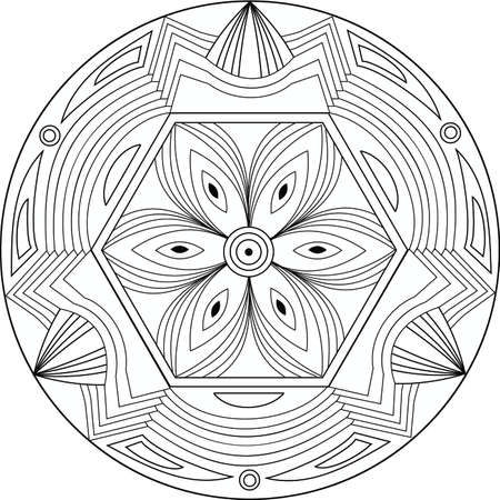 therapeutic: Creative illustration with geometric patterns for coloring books