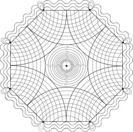 Geometric illustration for coloring book