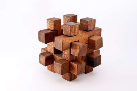 A wood made puzzle photo