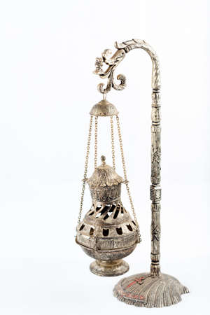 A model of the thurible known as the Botafumeiro, found in the Santiago de Compostela Cathedral