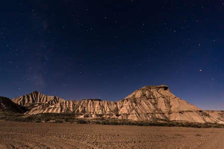 Bardenas Reales is a semi-desert in Navarre, Spain