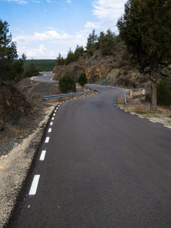 A road in Guadalajara (Spain) photo