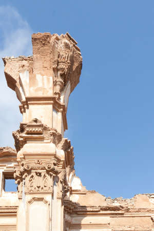 An old church destroyed during the spanish civil war in Belchite, Zaragoza photo