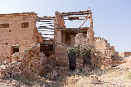 An old building destroyed during the spanish civil war in Belchite, Zaragoza Stock Photo