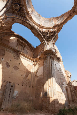 The dome of an old church destroyed during the spanish civil war in Belchite, Zaragoza