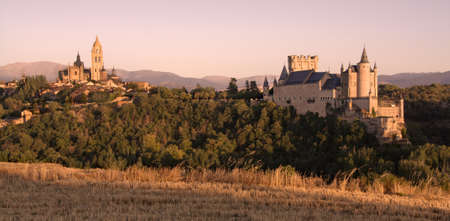 Sunset during summer in Segovia, Spain  Canon 450d