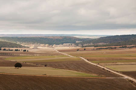 A cloudy day in the castilian fields Stock Photo - 14994254