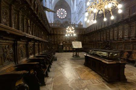 castilla leon: Choir of the Cathedral of Burgos, Spain