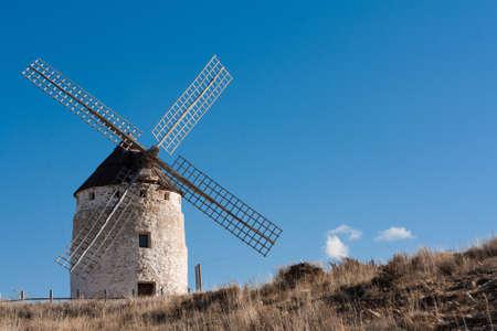 A typical windmill in Castilla la Mancha, Spain Stock Photo - 14994241