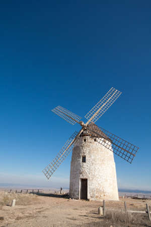 A typical windmill in Castilla la Mancha, Spain Stock Photo - 14994054