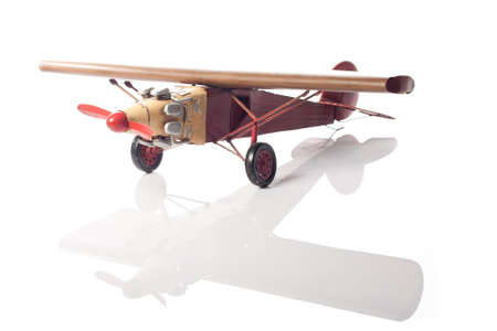 green military miniature: A green model of an old airplane