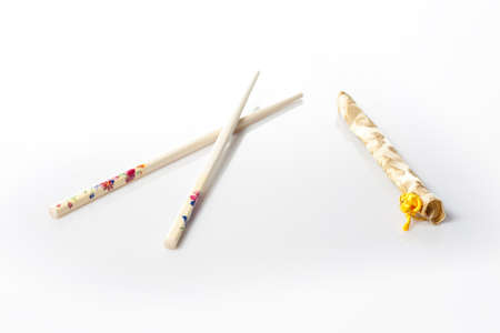 Asian chopsticks with the traditional cover