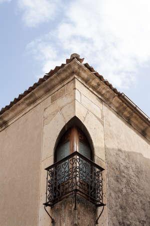 Corner balcony in the village of Pedraza, Spain