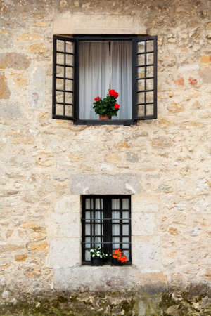 An old flowery window photo