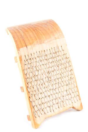 implement: Una scheda trebbiatura (una fattoria obsoleto attrezzo usato per cereali separati da loro paglia) realizzato in Cantalejo, Segovia (Spagna)