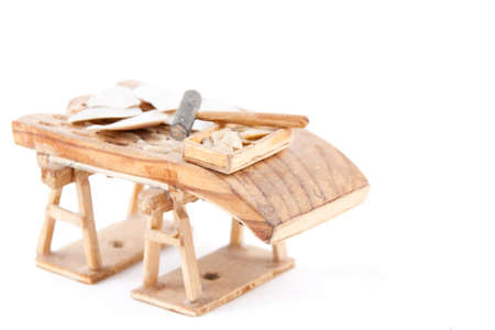 A threshing board (an obsolete farm implement used to separate cereals from their straw) made in Cantalejo, Segovia (Spain) Stock Photo - 17439584