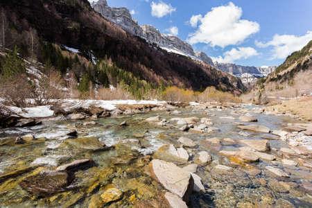 ordesa: Arazas river in the spanish national park Ordesa and Monte Perdido, Pyrenees