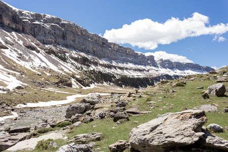 perdido: Arazas river in the spanish national park Ordesa and Monte Perdido, Pyrenees