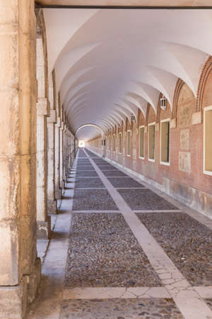 A pattern of arches in the Royal Palace of Aranjuez, Madrid (Spain)