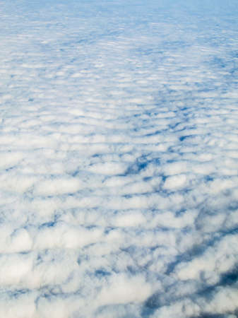 Aerial view of the top of stratocumulus clouds Stock Photo