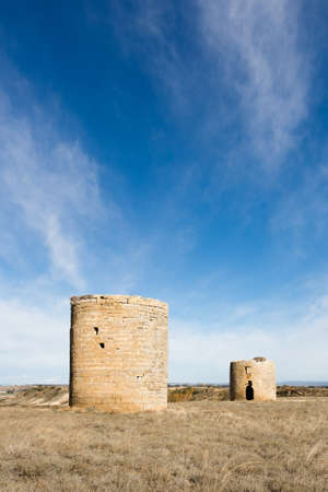 The castle of El Bayo in Aragon, Spain Stock Photo