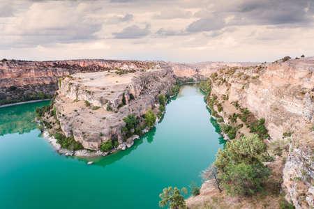 San Frutos Churh in the Duraton Canyon Natural Park in Segovia, Spain