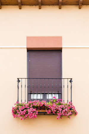 An old flowery window Stock Photo
