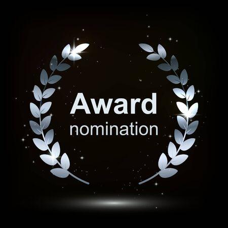 award element isolation on darck background. winner nomination. vector illustration.
