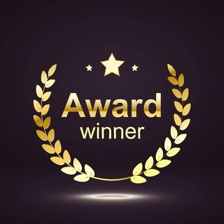 award element isolation on darck background. winner nomination. vector illustration. Illustration