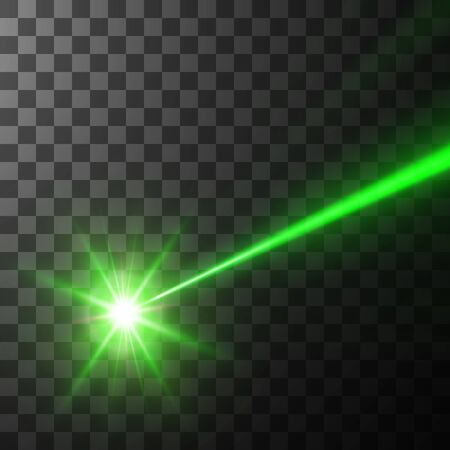 green laser beam, vector illustration