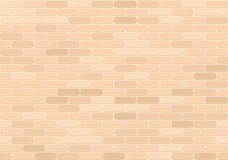 Brown brick wall seamless pattern, vector illustration