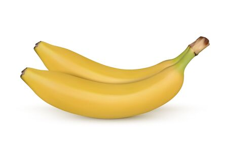 Banana isolated on white background. Vector illustration Иллюстрация