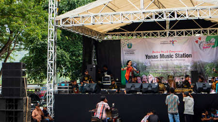 Modern Javanese traditional music performance, one of the most popular festivals on holidays