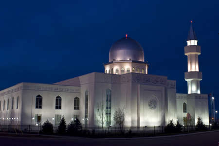 A beautiful mosque in morning light, Calgary, Canada