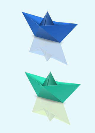 Origami drawings Stock Photo