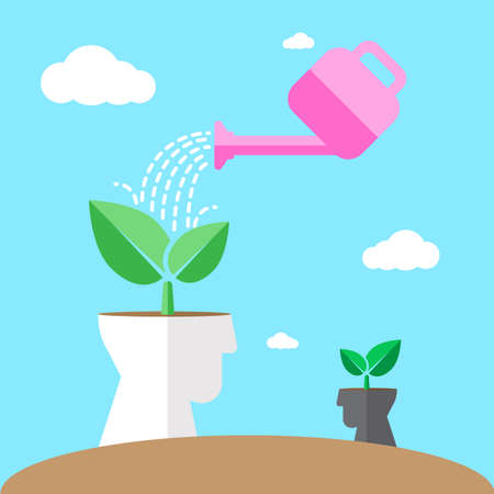 plant seed: watering environmental mind Illustration