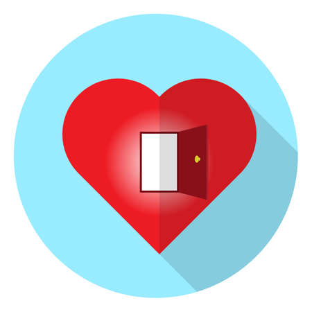 open heart Stock Illustratie