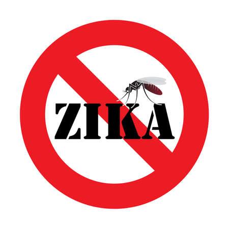 gnat: warning zika virus mosquito sign Illustration