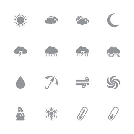 humid: gray simple flat weather icon set for web design, user interface (UI), infographic and mobile application (apps)