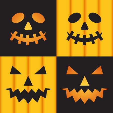 jack o' lantern: Jack o lantern pumpkin faces for Halloween  illustration Illustration