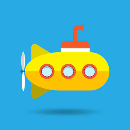 millitary: yellow submarine vector illustration