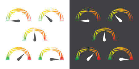 high speed internet: meter signs infographic gauge element from green to red vector illustration Illustration