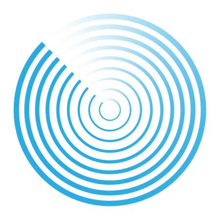 Radar abstract icon symbol vector illustration Illustration