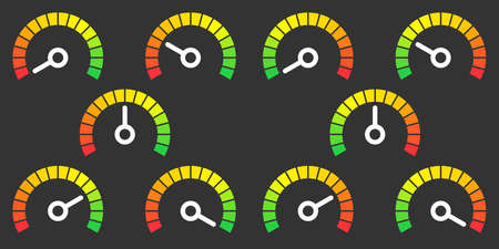 high speed internet: Meter signs infographic gauge element vector illustration