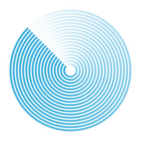 Radar abstract icon sign symbol, vector illustration.