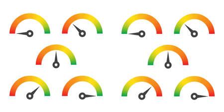 Meter sign infographic gauge illustration