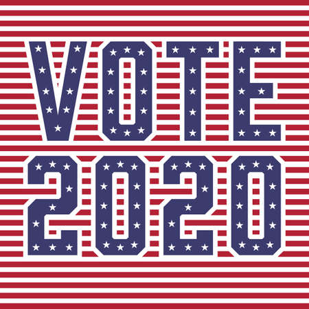 United States of America (USA) Elections VOTE 2020 with Stars and Stripes Concept Vector Illustration Ilustrace