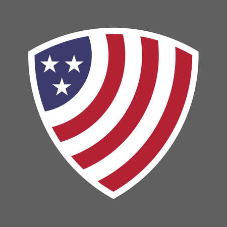 United States of America USA flag shield icon logo vector illustration. Independence Day. 4th of July. Presidential Election Illusztráció
